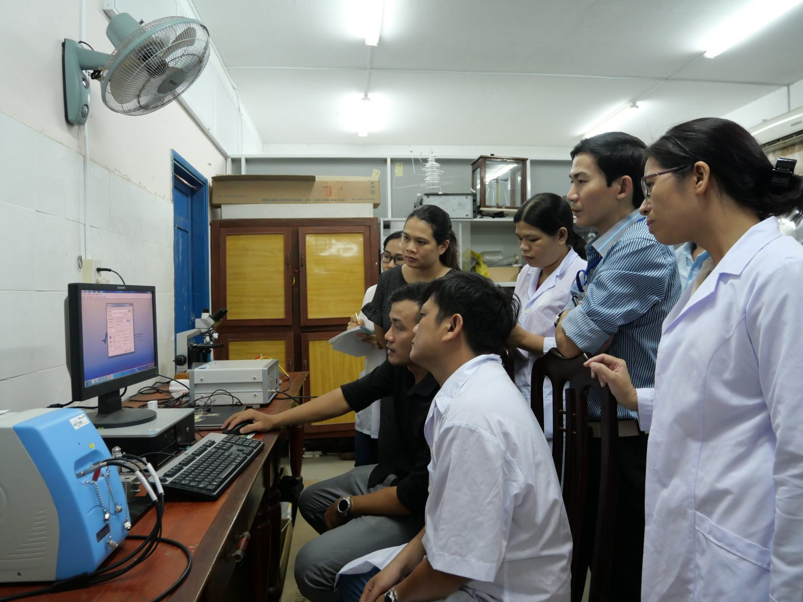 EQUIPMENT INSTALLATION AND TRAINING at Quy Nhon University