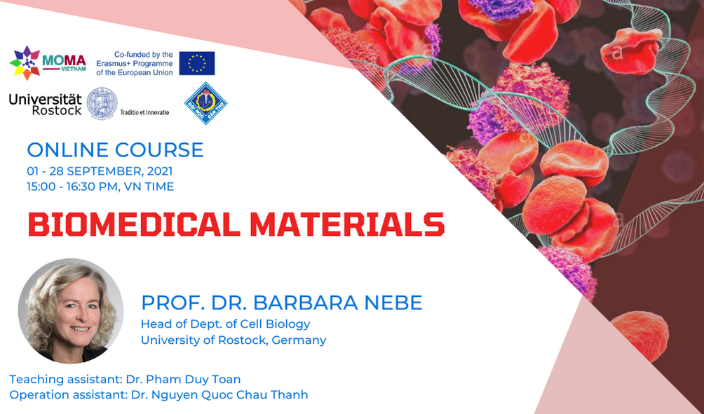 """Online Course """"BIOMEDICAL MATERIALS"""" – Can Tho University"""